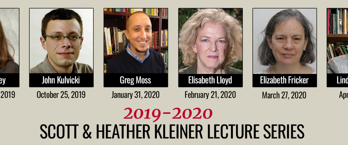 List of Speakers for the Scott & Heather Kleiner Lecture Series for 2019-2020 - click to access full list of speakers